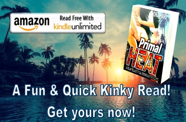 Primal Heat - teaser - fun and quick kinky read KU BUTTON & cover