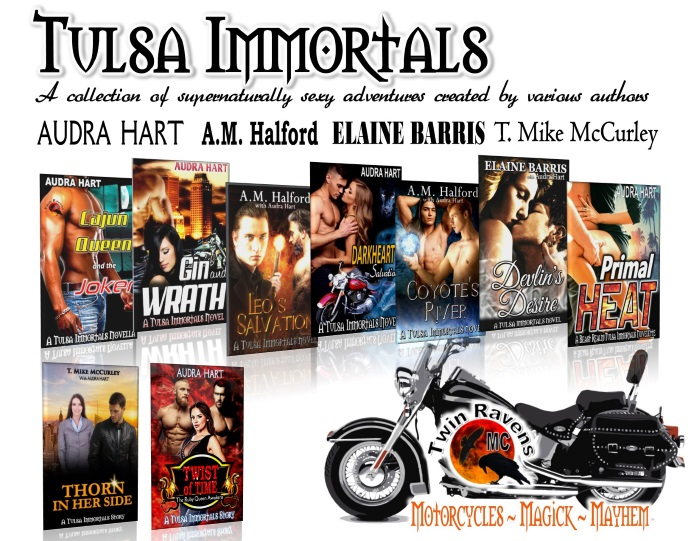 00 TULSA IMMORTALS promo w covers, motorcycle and TRMC logo KEEP beyond OCT books 1-8 (Sept 2018)