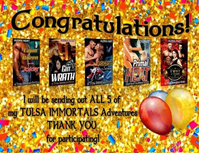 Congratulations - all 5 of my Tulsa Immortals Adventures
