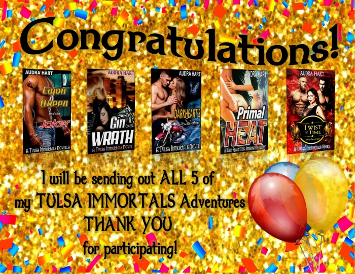 Congratulations - all 5 of my Tulsa Immortals Adventures