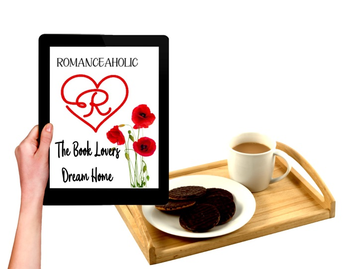 Romanceaholic - The book lovers dream home (ereader, coffee, cookies, tray & flowers