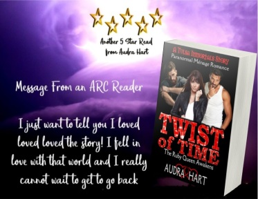Twist of Time - Message from ARC reader graphic
