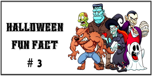 HALLOWEEN FUN FACT #3 cartoon monsters